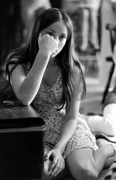 Not published in LIFE. Barbara Lovell, daughter of astronaut Jim Lovell, at home during the Apollo 13 crisis, April 1970.
