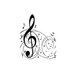 Treble Clef Music Sticker Vinyl Wall Art   Overstock.com Shopping - The Best Prices on Vinyl Wall Art