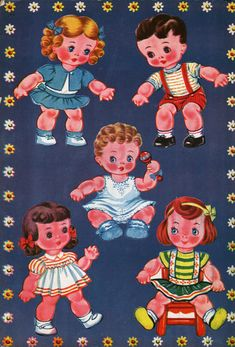 'Nancy and her Dolls' Papel Vintage, Vintage Paper Dolls, Retro Vintage, Akron Ohio, Storybook Characters, Baby Art, Childhood Toys, Art Forms, Kids Toys