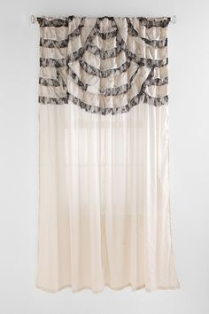 Black and White Ruffles Curtain- not this color but maybe something similar as like a valance?