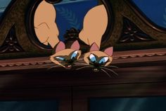 """Known to the animators as """"Si"""" and """"Am"""", these naughty girls are among my favorite Disney characters.  I've had siamese cats, and they are great."""
