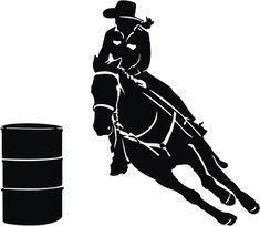 free girl barrel racing silhouette - Google Search