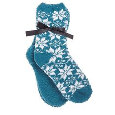 MeMoi Cozy Collection Snowfall 2Pair Pack Womens One Size Plush Socks OceanDepth #MeMoi #SlipperBedSocks