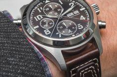 IWC Pilot's Watch Double Chronograph Edition Antoine De Saint Exupéry Hands-On - by Michael Penate - More on this special double chronograph at aBlogtoWatch.com
