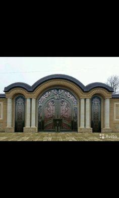 Личное фото Gate Wall Design, Home Gate Design, Steel Gate Design, Iron Gate Design, Entrance Design, Door Design, 5 Marla House Plan, Compound Wall Design, Architecture Artists