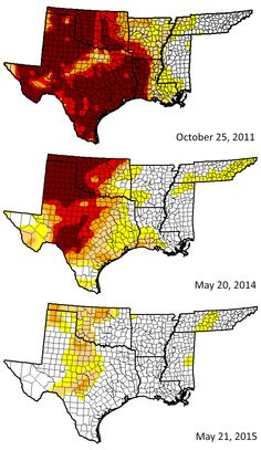 Drought In The Southern U S States On May 20 2014 Top And May