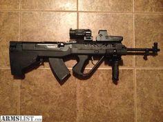 SKS Simonov 7,62 × 39mm rifle with Shernic Gun Works Bullpup Stock Kit