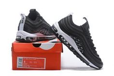 1853cced034e Men s Nike Air Max 97 Ultra SE Just Do It Black White Casual Shoes Sneakers