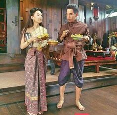 Actors Birthday, Love Destiny, Traditional Dresses, Costume Design, Behind The Scenes, Thailand, Sari, Costumes, Couples