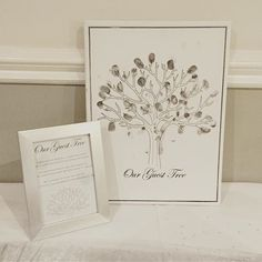 Wedding plans? Have a look at this creative guest tree. Kit includes canvas, stamp and instructions to display for your guests. #theworksstores #theworks #wedding #weddingplans #guestbook #weddingguestbook