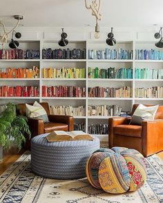 Manic Monday: chromatic library (via Interior inspirations)