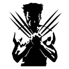 Wolverine X Men Vector Outline Silhouette Logo Symbol Outline Metal Cutout Spray Paint Art Gravure Laser, Wolverine Art, Spray Paint Art, Silhouette Art, Witch Silhouette, Scroll Saw Patterns, Stencil Art, Kirigami, X Men