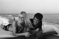 Brigitte Bardot and Alain Delon in St. Tropez, 1968