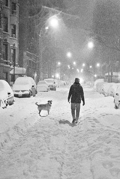 Perfect night for a walk on the streets of NYC.