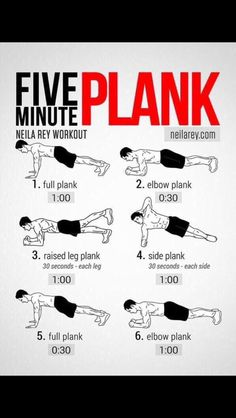 Five  minutes plank.