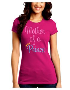 Mother of a Prince - Matching Mom and Son Design Juniors Crew Dark T-Shirt by TooLoud