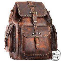 """Кожаный рюкзак """"Патриот"""" (коричневый эксклюзив) - 17"""