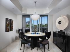 Contemporary black and white dining room.  Park Shore in Naples, Florida