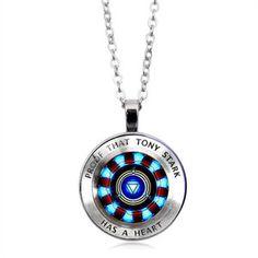 Fandom Jewelry, Marvel Clothes, Accesorios Casual, Diamond Solitaire Necklace, Diamond Jewellery, Tony Stark, Cute Jewelry, Jewelry Gifts, Jewlery