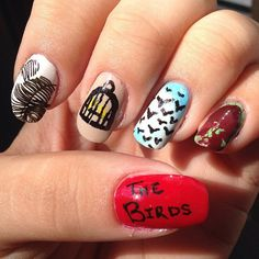 Pin for Later: These Horror-Movie Manicures Will Make You Pumped For Halloween The Birds