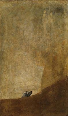 "The Dog // The Dark Story Behind Francisco de Goya's Bleak ""Black Paintings"" - Art"