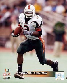 Willis McGahee Miami Hurricanes 8X10 Photo   BestSportsPhotos.com