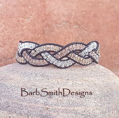 Silver Gold Rosegold Leather Wrap Bracelet  Trois