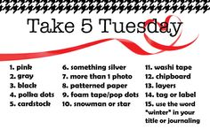 Paper Issues: Take 5 Tuesday Challenge - January 2017 Scrapbook Layouts, Scrapbook Pages, Scrapbooking, Card Sketches, Tuesday, January, Challenges, Journal, How To Plan