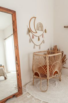 VILLAGE THRIVE – BALI JE T'AIME The village Thrive collection also includes beautiful rattan chairs and different macramé wall hangers. They have a careful selection of sustainable pieces that can eas Baby Bedroom, Baby Room Decor, Nursery Room, Nursery Decor, Bedroom Decor, Kid Decor, Boho Nursery, Room Baby, Girl Nursery