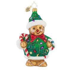 Light em Up Ginger Christmas Ornament by Christopher Radko