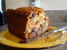 Curious George Bread Recipe - used GF flour mix, coconut oil/ cup organic PB. Made muffins Dairy Free Banana Bread, Chocolate Chip Banana Bread, Banana Bread Recipes, Chocolate Chips, Eggless Desserts, Vegan Desserts, Mediterranean Desserts, Bread Winners, Curious George