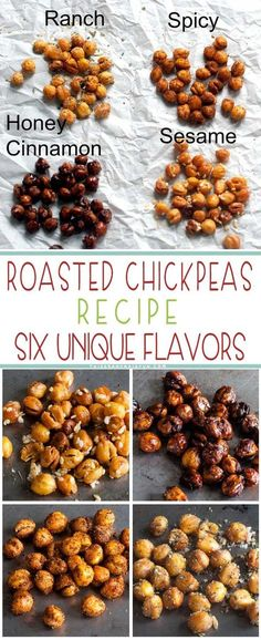 Roasted Chickpeas Recipe - TGIF - This Grandma is Fun Roasted Chickpeas Recipe. I couldn't decide on one flavor so I made six! Check these out! Vegetarian Recipes, Cooking Recipes, Healthy Recipes, Beef Recipes, Bariatric Recipes, Sausage Recipes, Snack Recipes, Mexican Recipes, Family Recipes