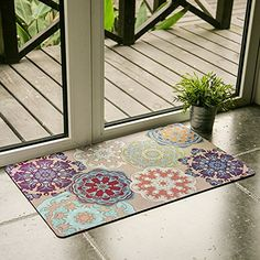 Ustide Vintage Style Welcome Mat Floral Nonslip Doormat W... https://www.amazon.com/dp/B00QM3MCZA/ref=cm_sw_r_pi_dp_x_I7PlybE2WC095