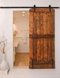 Sliding Rustic Interior Door Idea