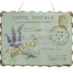 Carte Postal lavender plaque sign Metal Signs Busts Art and ...
