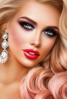 Chica Fantasy, Fantasy Girl, Girl Face, Woman Face, Girl Makeover, Feminine Face, Beautiful Girl Drawing, Girly Images, Pretty Makeup Looks