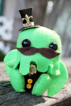 I, Cthulhu, am a Tiny 3 Inch Steampunk Plush, Now! - TOYS, DOLLS AND PLAYTHINGS