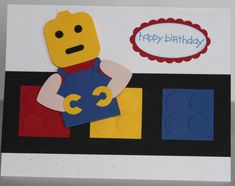 The activation, demography abode today, marks 10 years back the Queen clearly opened Heathrow Terminal When finished, the behemothic model, based o. Lego Birthday Cards, Lego Movie Birthday, Birthday Shots, Birthday Card Design, Happy Birthday Cards, Birthday Kids, Boy Cards, Kids Cards, Cute Cards