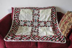Squares crochet blanket