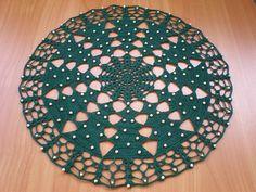 Christmas tree tablecloth tutorial: free crochet patterns Christmas tree green Crocheted Christmas tablecloth tutorial d= 31cm hook 1.00mm S...