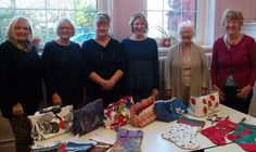 Some very creative learners on our Stitch and Sew Fabric Crafts for Gifts and Home course.  Look at what they achieved in a 10 week course. ValeCourses.org