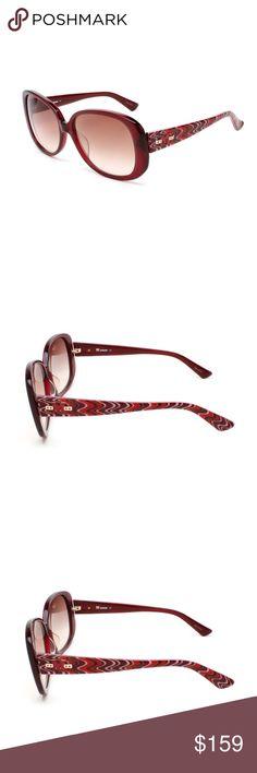 GIFT* MISSONI NWT Women's Oversized Sunglasses Missoni Missoni Signature Design & Superior Quality 59-16-135 Oversized Frame Guaranteed Authentic - Comes With A Case And Cloth  Polycarbonate Missoni Accessories Sunglasses