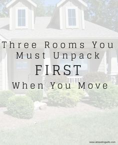 They say that one of the most stressful situations you can experience is moving. Learn what three rooms you must unpack first. #CharminEssentials #IC #ad