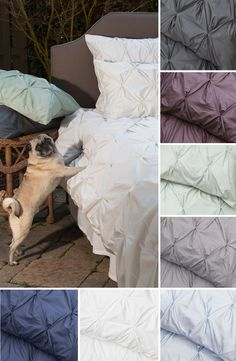 Sleep on a cloud with silky soft 400 thread count pintuck bedding for your modern home. Pick from a variety of dreamy colors. As seen on the Today Show.