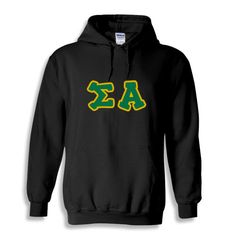 Sigma Alpha Bubble Twill Hooded Sweatshirt from GreekGear.com