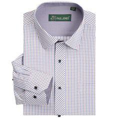 High quality Men's classic plaid shirt Long sleeve dress shirt