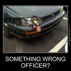 Something wrong officer