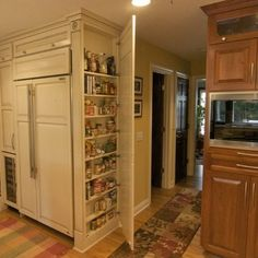 built- in refrigerator look & excellent extra storage for small kitchens - frame out door to match cabinets -  Design Ideas, Remodel, and Decor - page 2