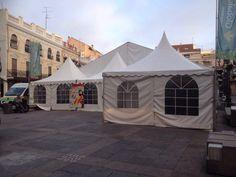 Jaimas y carpa en #CiudadReal para la Feria del Stock. #eventos #empresas #proveedores