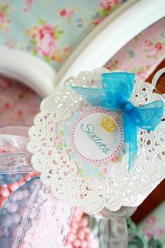 Shabby Chic Baby princess 1st birthday party - cake - sweets table - candy buffet - labels and labeling ideas